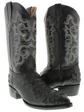 mens black alligator crocodile head leather western cowboy boots riding rodeo