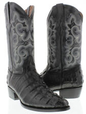 mens black crocodile alligator tail leather western cowboy boots riding rodeo