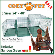 Dog Cage Cozy Pet Dog Crate Gundog Green Puppy Crate 5 Sizes Travel Crate Cat