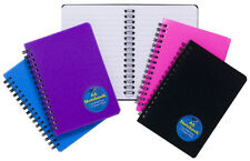 A5/A6 Wire Spiral Wirebound Notebook NotePad Note Book Pad Ruled Feint 140 Pages