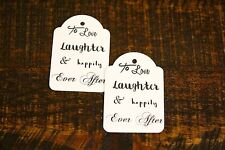 Personalised Wedding Tags Bomboniere Gift Favour Love Laughter Happily Ever