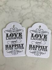 Love Laughter and Happily Ever After Wedding Tags Bomboniere Gift