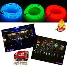 9FT Neon Glowing Strobing Light Electroluminescent Wire Line Decor Clothes Car