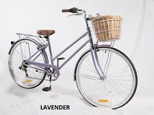 SAMSON CYCLES 7 SPEED LAVENDER VINTAGE LADIES BIKE( WITH FREE LIGHTS AND LOCK)