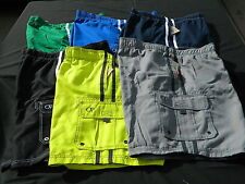 Mens OP Ocean Pacific Full Elastic Trunks Shorts Various Sizes and Solid Colors