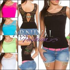 NEW SEXY LADIES FASHION TANK TOP ONLINE lacy blouse XS S M L WOMEN'S CASUAL WEAR