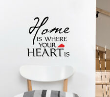 Home Is Where Heart Wall Sticker Home Quotes Inspirational Love MS073VC