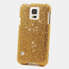FOR SAMSUNG GALAXY S6 NOTE 5 CRYSTALS BLING CASE COVER ROYAL GOLD CRYSTAL DESIGN