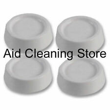 White Rubber Anti-vibration Feet For Washing Machines Shock Absorbers Pack Of 4