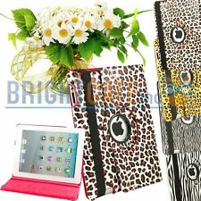 New Lepoard 360 Leather Rotating Swivel Magnetic Smart Case Cover for iPad 2 3 4