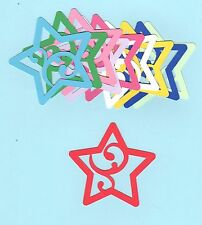 Star Die Cuts - Star with Flourish Die Cuts - You choose size and color(s)