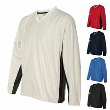 Adidas Golf Climaproof Wind Colorblock V-Neck Mens Windshirt Pullovers A147