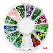 1pc Fimo Acrylic Nail Art Decoration Tips 120PC Multicolors Slice Manicure Wheel