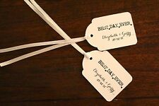 Personalised Wedding Tags Bomboniere Gift Favour Party Best Day Ever