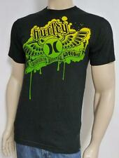 Hurley Microphone 4 Youth Tee Mens Black Regular Fit Tee T-Shirt New NWT