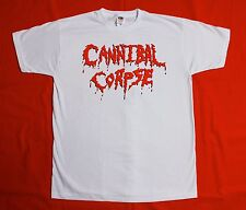 CANNIBAL CORPSE LOGO DEATH METAL GRINDCORE CHRIS BARNES NEW S-XXL WHITE T-SHIRT
