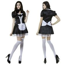 New Cosplay Costume Lolita Ruffle French Maid Outfits Halloween Party Sexy Dress