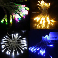 20/40 LED Wire Battery Operated Fairy String Lights Xmas Indoor Festival Lamp UK