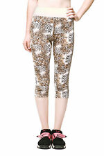Neonysweets Womens Capris Tight Athletics Running Yoga Leggings Pants Leopard