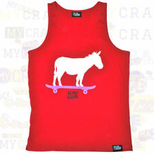 FILTHY DRIPPED Donkey Skateboard Red Tank Top