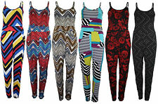 NEW WOMENS LADIES FLORAL PRINT AZTEC STRAPPY CAMI ALL IN ONE JUMPSUIT PLAYSUIT