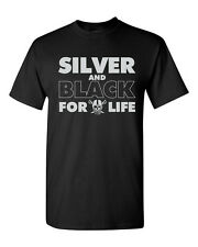 Silver and Black Forever Oakland Raiders Football Men's Tee Shirt 1273
