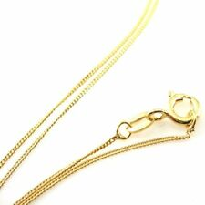 22K Gold over Sterling Silver 1mm Curb Necklace Chain. Vermeil. 16,18,20 inch