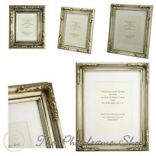 Antique Silver Shabby Chic Ornate Swept Vintage Picture Frame with a Single Moun
