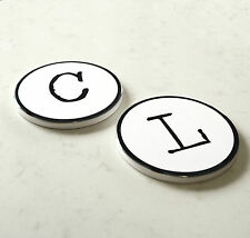 Typewriter Style Letter And Number Drinks Coasters
