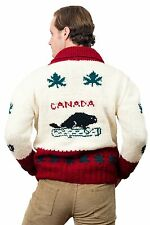 NEW Canada Sweater New Cardigan Jumper Mary Maxim Cowichan Wool Curling Sweater