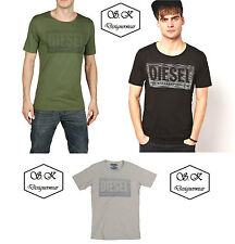 New Diesel Men's T-Shirt T6-THREE T-Shirt Available in 3 Colors & Sizes RRP£45