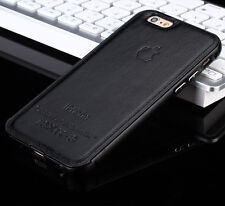 Luxury Leather Aluminum Metal Bumper Frame Skin Case Cover For iPhone 5s 6 PLUS