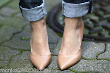 ZARA NUDE POINTED COURT SHOES SIZES 37 38