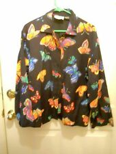 COLORFUL BUTTERFLY JACKET BY SILVER STREAK-SZ X LARGE-LINED-NEW WITHOUT TAGS