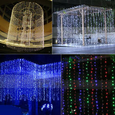 3Mx3M 300 LED Outdoor Party Christmas Xmas String Fairy Wedding Curtain Lights