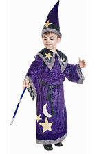 KIDS CHILDRENS CHILDS BOYS GIRLS DELUXE MAGIC WIZARD MERLIN COSTUME AGE 4-6-8-12
