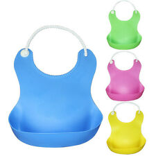 Cute Baby Soft Silicone Bib Waterproof Saliva Dripping Kid Infant Bibs
