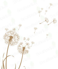 Dandelion Wall Decal Flower Wall Stickers Living Room Bedroom Nursery Removable