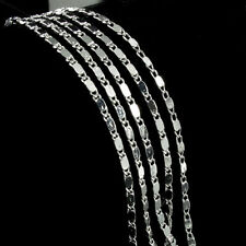 Wholesale Silver Plated Silver Plated 2mm Charm Curb Flat Chain Necklace