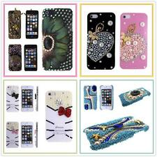 iPhone 5 5S Case, 3D Bling Crystal Hard Case Cover For Apple + Screen Film G2
