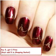 Christmas Nail Art Stickers Water Decals Decoration Snowflakes Reindeers Bows