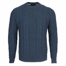HENRI LLOYD KNITWEAR - HENRI LLOYD GRISTON CABLE KNIT - NAVY - BNWT