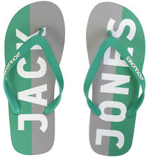 BNWT Means Jack & Jones Logo Rubber Flip Flops Footwear Green