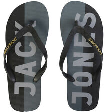 BNWT Means Jack & Jones Logo Rubber Flip Flops Footwear Black