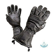 Olympia GT4150 Gor-Tex All Season Mens Black Leather Motorcycle Scooter Gloves