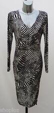 Twiggy for M&S Collection Sizes 14 18 Black White Long Sleeve Jersey Dress Bnwt