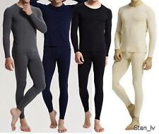 Mens 2pc Top and Bottom Long John Underwear Thermal Set Waffle Knit M L XL XXL