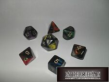 OBLIVION DICE SETS - Multi Sided Poly Dice D20 RPG D&D NEW