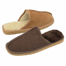 MENS NEW DUNLOP BROWN SUEDE SLIP ON MULE CASUAL SLIPPERS SHOE SIZES 7 8 9 10 11