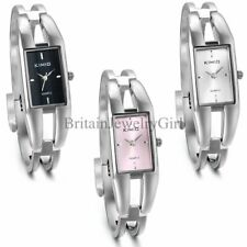 Womens Ladies Fashion Square Dial Quartz Analog Bangle Bracelet Wrist Watch